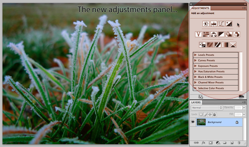 cs4 adjustment panel Adobe Photoshop CS4: Straight Dope Review