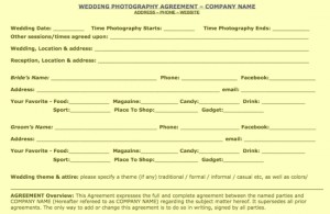 wedding contract sample.pdf page 1 of 2 300x195 Free Wedding, Portrait, Commercial, Contract Samples: UPDATED