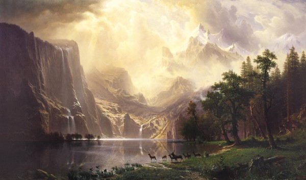 120x72 Albert Bierstadt Among the Sierra Nevada Mountains 600x353 Wall Portraits. Why the 8x10 Is Stealing Your Impact & Profit: