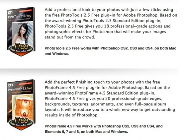 Free Products onOne Software 600x456 OnOne Releases Free Photoshop Plugins.