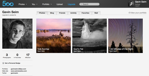 500px   Gavin Seim 500px Review   A new photo sharing site worth a look?