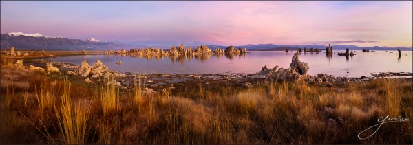 Tufa Sunrise Print Version Mono Lahe CA 600x211 12 Tips for New & Aspiring Photographers.