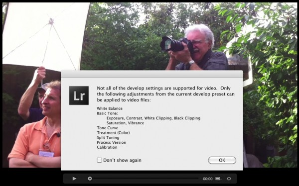 Lightroom Video 600x374 Advanced Video Editing in LR4   Using Develop Module Adjustments